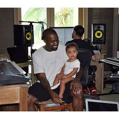 Bring your daughter to work day! North West kept up her jet setting lifestyle, traveling to Mexico with her mother Kim Kardashian and father Kanye West, as he recorded his latest album.