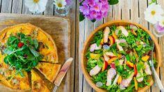 Mat til sommerfesten: pai, kyllingsalat og jordbærdessert Vegetable Pizza, Vegetables, Food, Essen, Vegetable Recipes, Meals, Yemek, Veggies, Eten