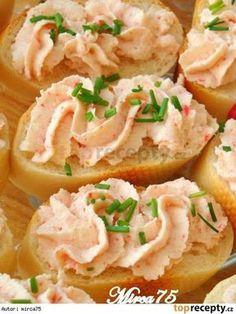 Krabí pomazánka Slovak Recipes, Czech Recipes, No Salt Recipes, Snack Recipes, Cooking Recipes, Tapas, Modern Food, Party Finger Foods, Savory Snacks