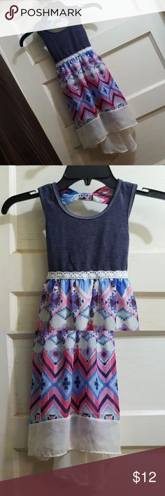 RMLA Geomtric Sleeveless Dress Girl Sz 6 Cute Hi Lo dress for little girls. Size 6. It is larger on the back than in the front. Sleeveless.  Great condition. Smoke free home. Dresses Casual