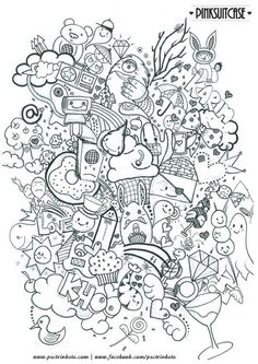 Doodle Coloring pages colouring adult detailed advanced printable