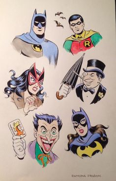 Silver Age Batman collage by Ramona Fradon