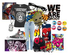 """""""Nerd"""" by iamgrootiamgroot on Polyvore featuring Topshop, ZeroUV, Funko and Marvel"""