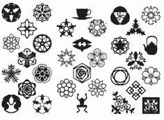 【楽天市場】「紋切り型」昭和モダン 切り紙 工作:おもちゃの国 オズ