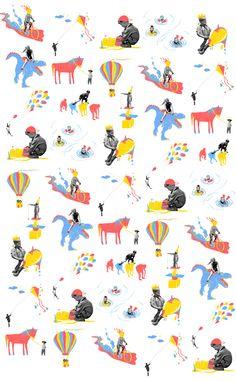 kids by Raphaelle Martin, via Behance