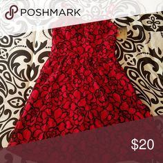 Dress Red and black lacy cover over built in red slip. Lily Rose brand. Juniors Lily Rose Dresses Mini