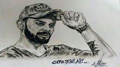 #virat #vk #viratian #art #sketch this is a creative sketch of virat kohli...