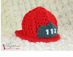 Gehäkelter Feuerwehrhelm Feuerwehr / Crochet Firefighter