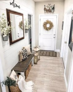 93 smart farmhouse rustic entryway decorating ideas 76 Entryway and Hallway Decorating Ideas Decorating Entryway Farmhouse Ideas rustic smart Home Living Room, Living Room Decor, Dining Room, Bedroom Decor, Living Spaces, Dining Table, Rustic Entryway, Small Entryway Decor, Entry Foyer