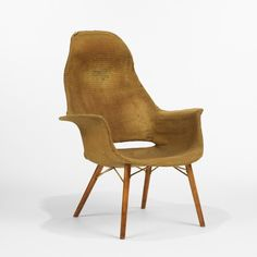 Charles Eames and Eero Saarinen, High Back Armchair for Haskelite and Heywood Wakefield, from the Museum of Modern Art Organic Design Competition, c1940.