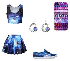 """""""Galaxy"""" by unicornjaz1 ❤ liked on Polyvore featuring Vans and Casetify"""