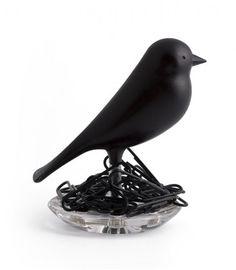 Porte trombones oiseau noir