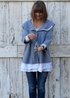 Grayced with Lace Cardigan Hoodie upcycled grey by wearlovenow, $42.99