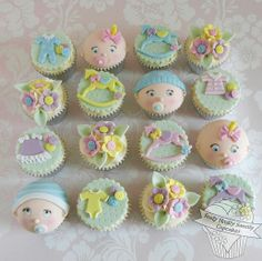 Baby Shower Cupcakes- super cute