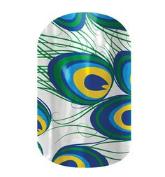 Peacock  nail wraps by Jamberry Nails http://pamtess.jamberrynails.net