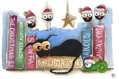 Lucia Stewart - Christmas book shelf