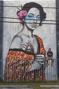 Fin Dac & Angelina Christina - Street Art by Fin Dac