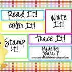 This is a little freebie to practice spelling number words 1-10...