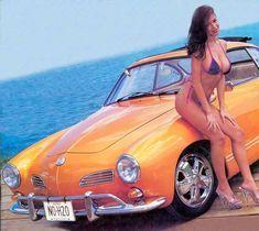 vw pin up girl Karmann Ghia Convertible, Vw Rat Rod, Kdf Wagen, Hot Vw, Volkswagen Karmann Ghia, Ferdinand Porsche, Thing 1, Vw Cars, Car Girls