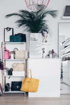 ikea hyllis hack meine diy taschen aufbewahrung im ankleideraum in 2018 b e d r o o m. Black Bedroom Furniture Sets. Home Design Ideas