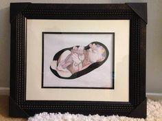 Custom pencil portraits in memory of Baby Hope Chloe James, Custom Pencils, Personalized Pencils, Pencil Portrait, Poppies, Bloom, Portraits, Gallery, Frame