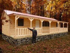 Hilltop Structures manufactures modular system built cabins, portable storage buildings, horse and livestock barns and more. We build some of the largest pre built cabins in Tennessee. Small Cabins For Sale, Small Log Cabin, Log Cabin Kits, Cabin House Plans, Cabin Floor Plans, Tiny House Cabin, Small House Plans, Mobile Home Exteriors, Mobile Home Renovations