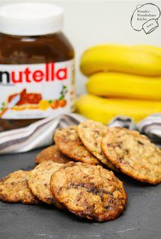 Wonder Wunderbare Küche: Nutella-Bananen-Cookies