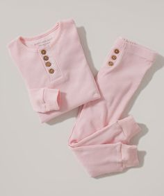 Look at this #zulilyfind! Blossom Henley Organic Pajama Set - Infant & Girls by Burt's Bees Baby #zulilyfinds