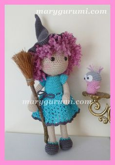 Poupée, Sorcière, Peluche en crochet, Amigurumi ♡ lovely doll