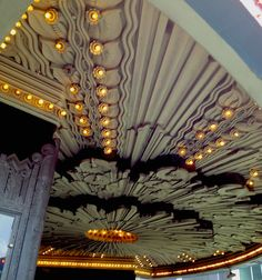 #ArtDeco | Interior detail under the marquee at the Wiltern Theater, Los Angeles