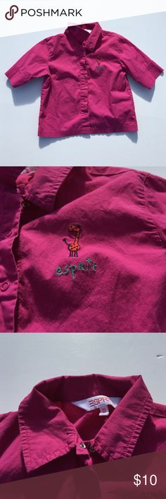 Esprit Fuchsia Button Down Shirt Child's esprit fuchsia button up collared shirt. Perfect for your little one to go exploring in. Says 1.5-3 yrs. old on tag. Offers warmly received. Esprit Shirts & Tops Button Down Shirts