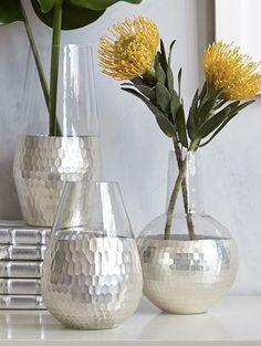 metallic honeycomb vases  http://rstyle.me/n/qd4dwpdpe