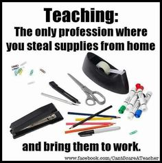 Teacher humor: supplies and demand.