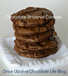These are the best brownie cookies! I made them 3 times this past week and gave away. Great cookies for Christmas