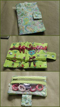 Pochette à barettes-chouchous Have Fun, Range, Diy, Feltro, Patterns, Toddler Girls, Clutch Bags, Fabrics, Bags
