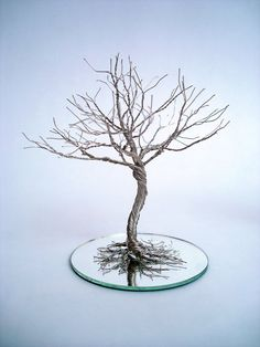 Wire Sculpture Twisted Tree  Home Decoration/Candle by wireforest
