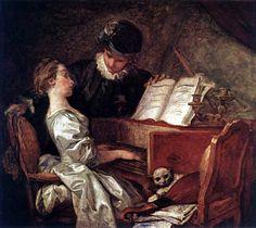 leçon de musique      Fragonard