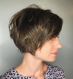 60 Classy Short Haircuts and Hairstyles for Thick Hair - Pixie Bob For Thick Coarse Hair - Short Messy Haircuts, Short Hairstyles For Thick Hair, Haircut For Thick Hair, Short Wavy Hair, Short Hair With Layers, Pixie Haircut, Messy Hairstyles, Curly Hair Styles, Soft Layers