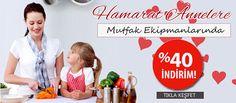 Hamarat Annelere Mutfak Ekipmanlarında %40'a Varan İndirim Fırsatı. https://www.markalardan.com/Mutfak-Gerecleri-Mutfak-Ekipmanlari-60