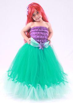 Tutu Skirt - Teal - Princess Ariel - Mermaid Costume