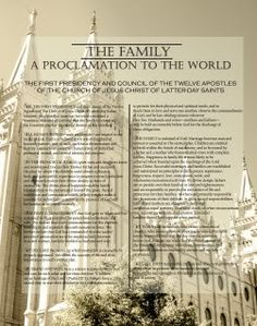 Proclamation to the Family with temple picture
