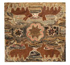 Antique hooked rug.