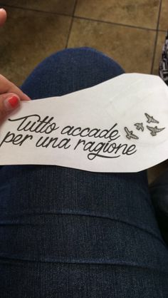 """Everything Happens For A Reason"" but in Italian"