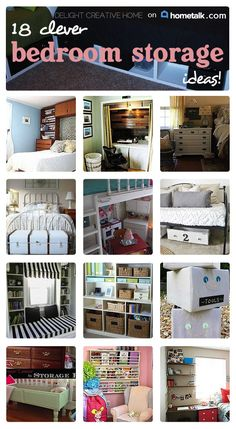 Keep your bedroom organized with these 18 great tips!
