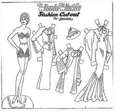 April 21, 19305 |  WINNIE WINKLE Fashion Cut-out By Branner - Comic Strip Paper Dolls
