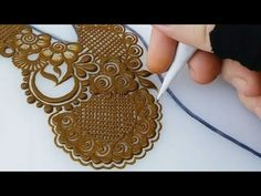 One sided grid henna design(Back side) - YouTube