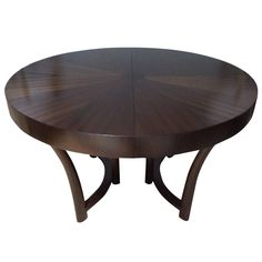 Widdicomb Walnut Extension Table, Style of Robsjohn-Gibbings | From a unique collection of antique and modern dining room tables at https://www.1stdibs.com/furniture/tables/dining-room-tables/