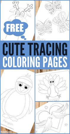 Free Printable Tracing Coloring Pages for Kids