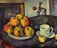 Paul Cézanne - Still Life with Apples,1894 Oil on Canvas,55 x 46 cm Private Collection