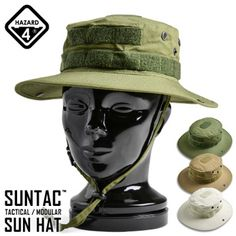 HAZARD4 hazard 4 SUN-TAC TACTICAL/MODULAR SUN HAT (Suntech tactical / modular solo) 3-color Boonie Hat jungle Hat sabage outdoor Velcro broker military men